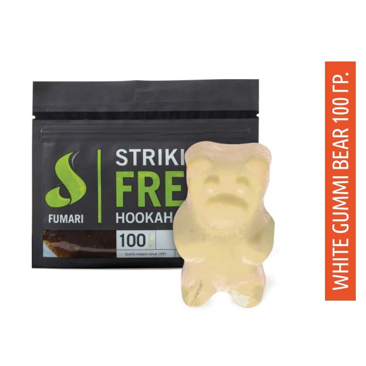 Табак Fumari Фумари 100 гр - White Gummi Bears (Белые Мишки Гамми)