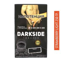 Табак Darkside Дарксайд  Medium 250 гр - Strawberry Light (Клубника)